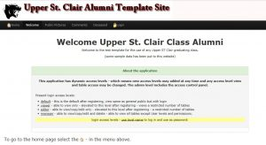 Alumni template site
