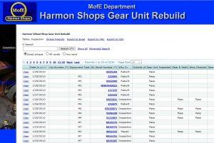 Harmon Shop Gear Unit Rebuild tracking